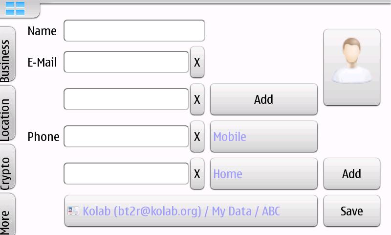 5 مارس 2012 - Kontact Touch على N900