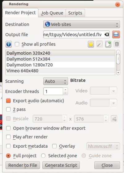 Kdenlive/Manual/Project Menu/Render - KDE UserBase Wiki