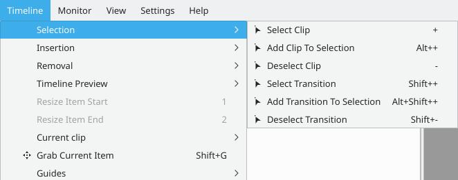 Kdenlive/Manual/Timeline Menu/Selection - KDE UserBase Wiki