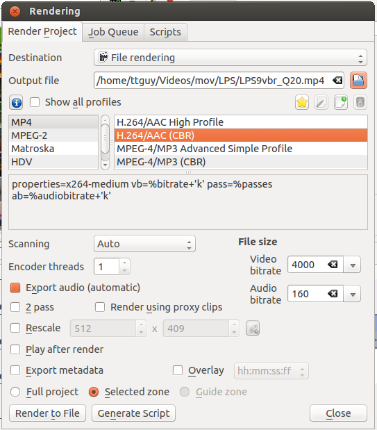 Kdenlive/Manual/Project Menu/Render - KDE UserBase Wiki
