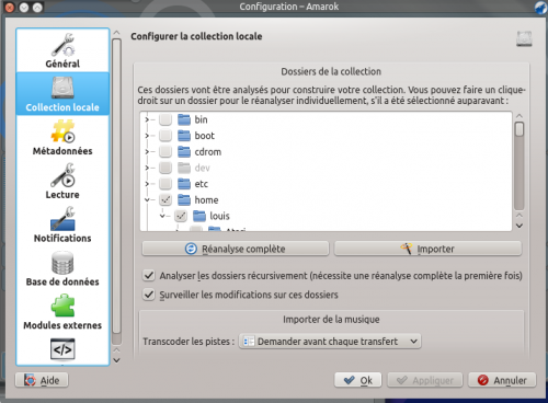 Amarok 2.8 ConfigurationDialogLocalCollection FR.png