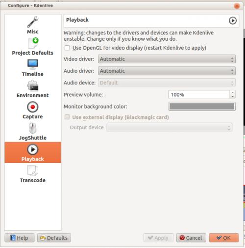 Kdenlive/Manual/Settings Menu/Configure Kdenlive - KDE UserBase Wiki