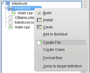 KDevelop4/Manual/Getting started: A small CMake tutorial