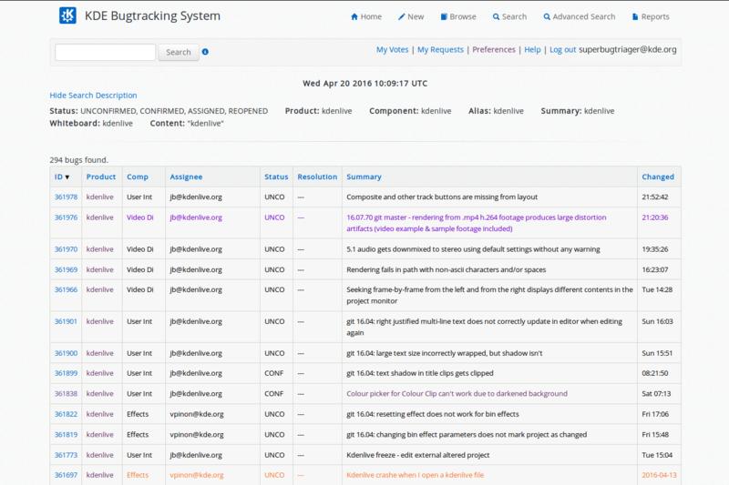 Kdenlive bug triaging - bug list.png